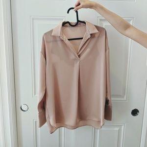 NWOT Blush Pink Blouse